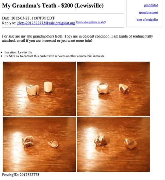 This Guy Seeking Someone... is listed (or ranked) 4 on the list The Most Ridiculous Craigslist Ads of All Time