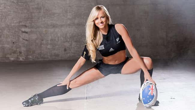 WWE Rugby World Cup Divas Phot is listed (or ranked) 22 on the list The Hottest Summer Rae Pics Ever, Ranked