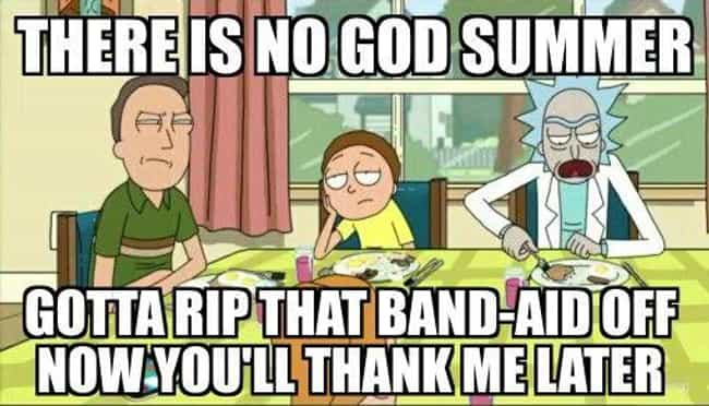 Summer Is the Worst is listed (or ranked) 7 on the list Rick and Morty Memes That All Fans Will Laugh At