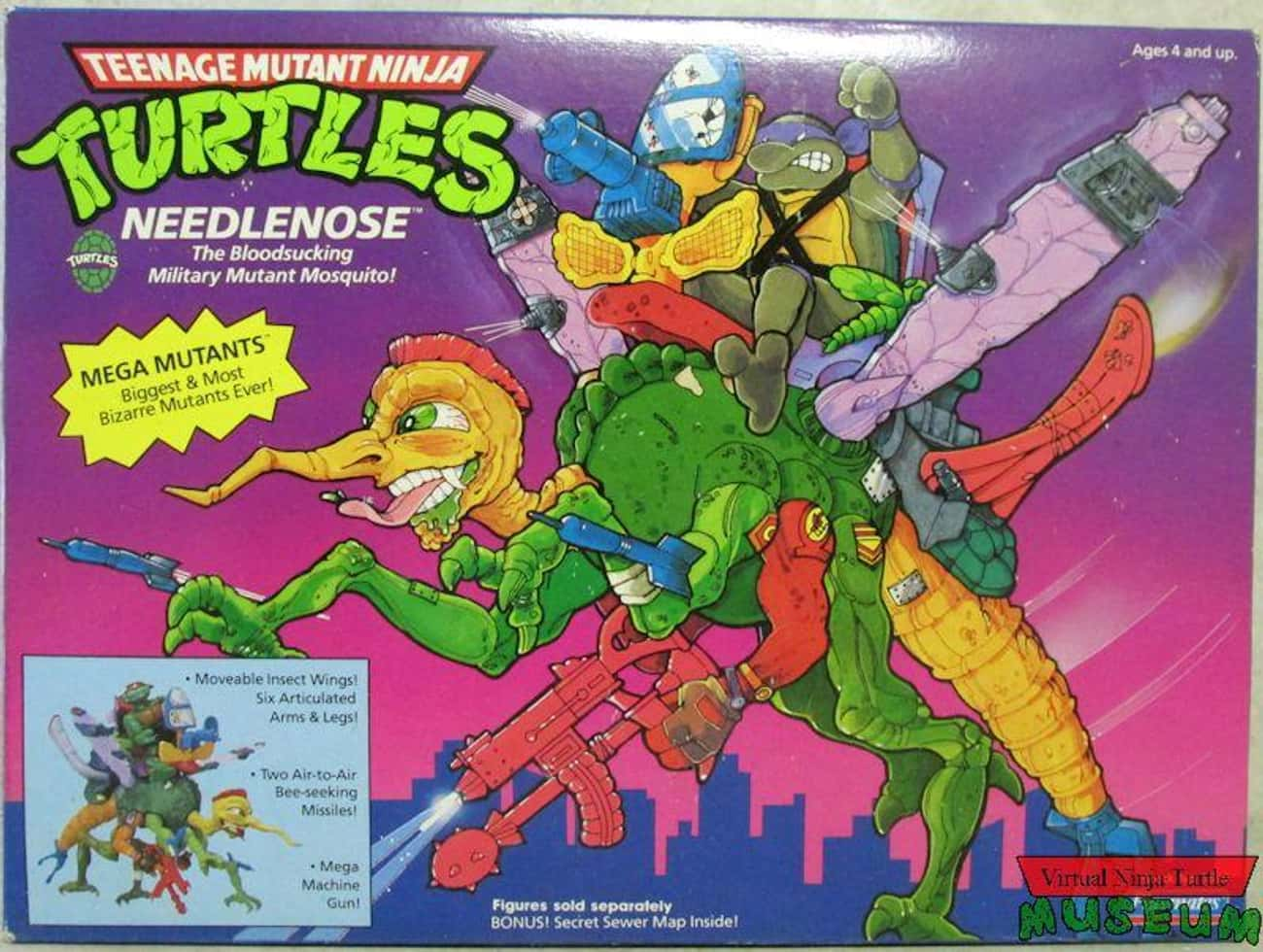 Needlenose is listed (or ranked) 3 on the list The Worst Ninja Turtles Action Figures Ever Made