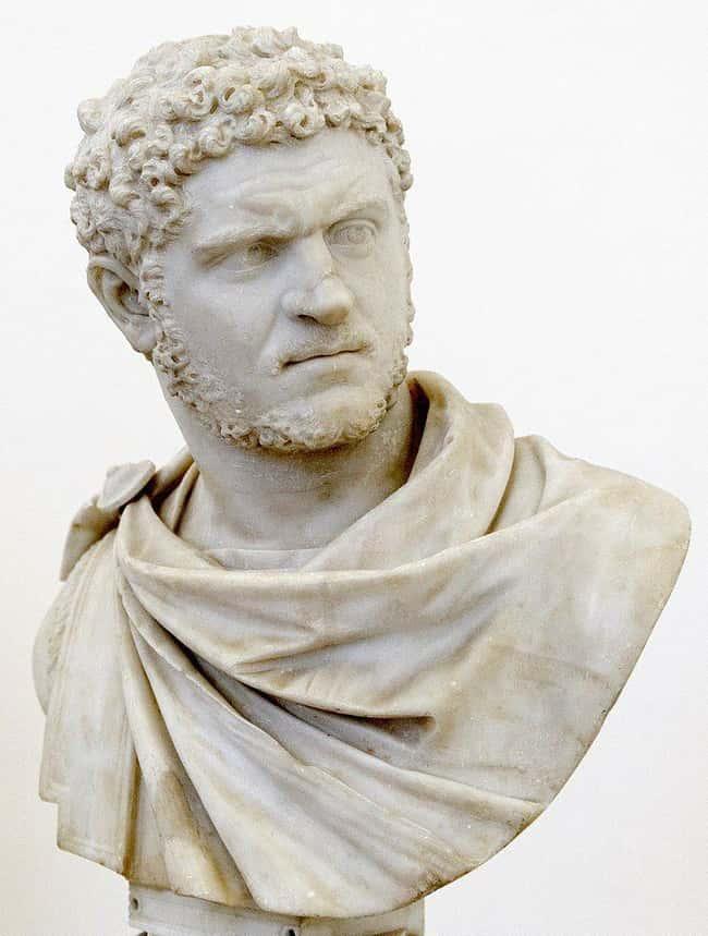 Hoàng đế La Mã Caracalla Was At được liệt kê (hoặc xếp hạng) 5 trong danh sách Những cái chết cổ xưa kỳ lạ khủng khiếp sẽ xảy ra hôm nay