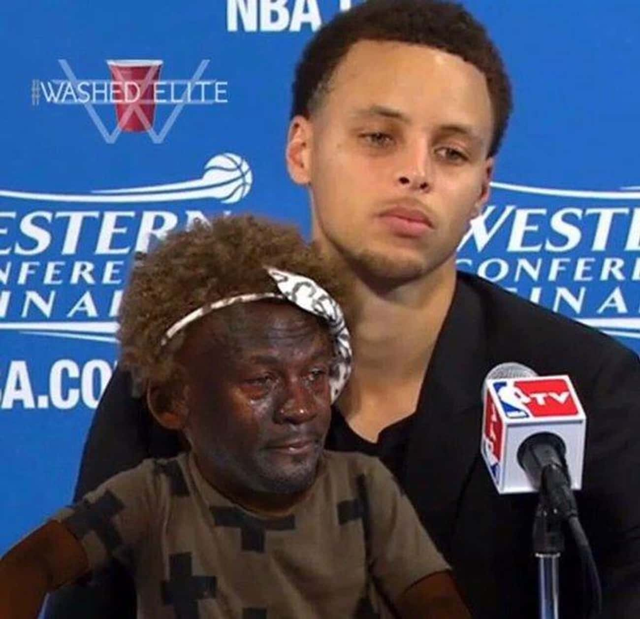Curry and His Daughter, Crying Riley Jordan
