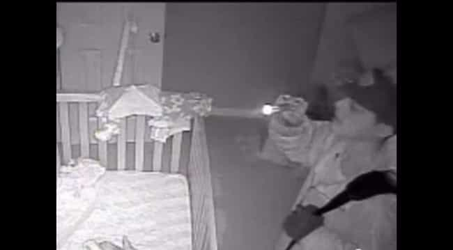 This Monitor Helped Catch A Creepy Burglar Who Paused To Admire The Baby