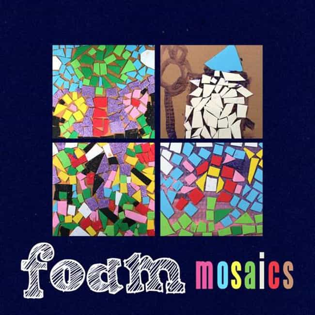 Foam Mosaics is listed (or ranked) 3 on the list Good Crafts for 4 Year Olds