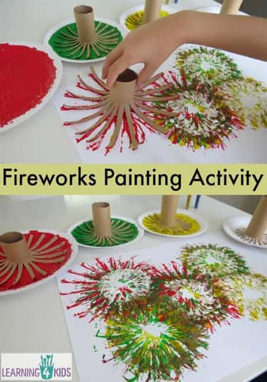 Painting Fireworks is listed (or ranked) 1 on the list Good Crafts for 4 Year Olds