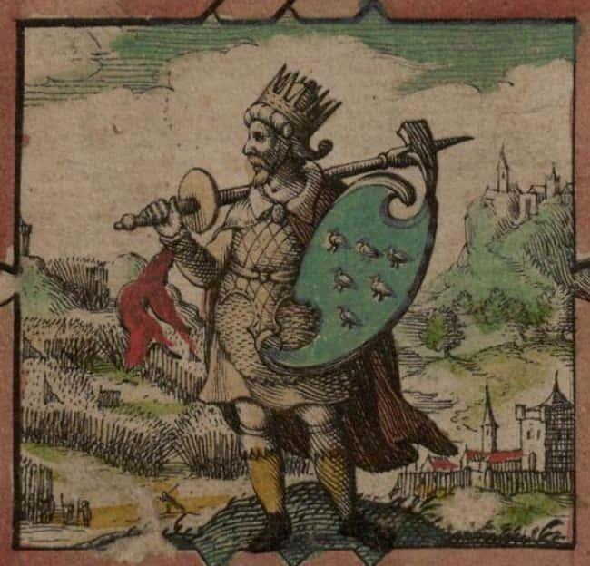 Vua Anglo-Saxon Aelle, Slain được liệt kê (hoặc xếp hạng) 6 trong danh sách Những cái chết cổ xưa kỳ lạ khủng khiếp sẽ xảy ra hôm nay