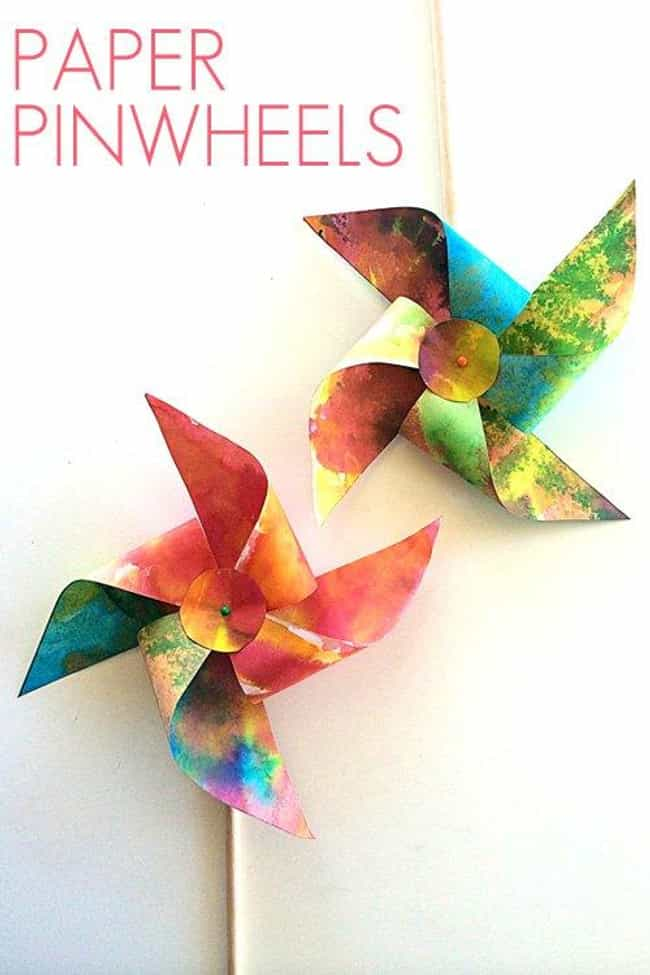 Paper Pinwheels is listed (or ranked) 2 on the list Good Crafts for 4 Year Olds