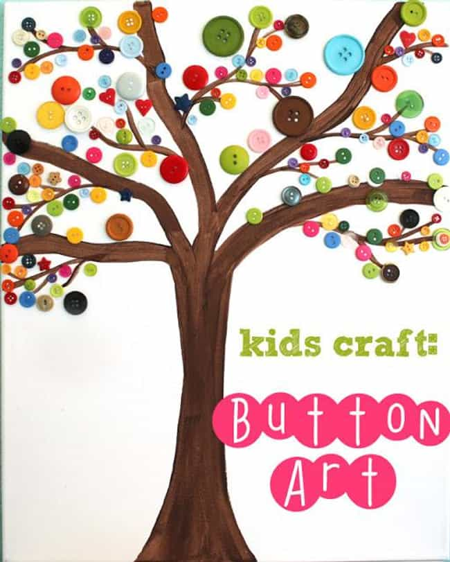 Button Art is listed (or ranked) 4 on the list Good Crafts for Five Year Olds