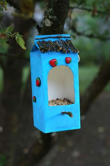 Milk Carton Bird Feeder is listed (or ranked) 2 on the list Good Crafts for 6-Year-Olds