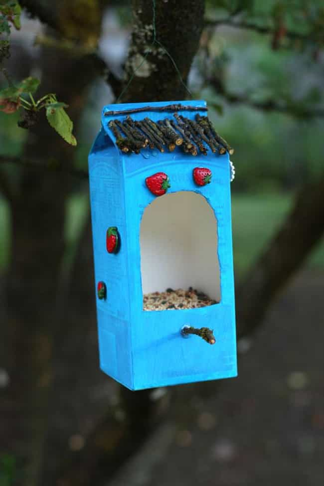 Milk Carton Bird Feeder ... is listed (or ranked) 3 on the list Good Crafts for 6 Year Olds