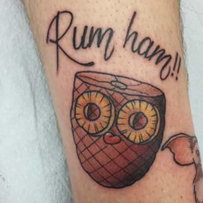 Who Wants Rum Ham? is listed (or ranked) 4 on the list 33 Epic Always Sunny Tattoos That Demonstrate Value