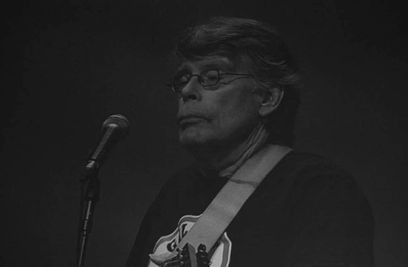 King Plays Guitar in a Rock Ba is listed (or ranked) 3 on the list 28 Things You Didn't Know About Stephen King
