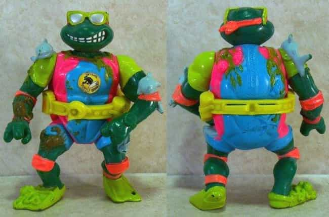 Mike, the Sewer Surfer ... is listed (or ranked) 3 on the list The Worst Ninja Turtles Action Figures Ever Made