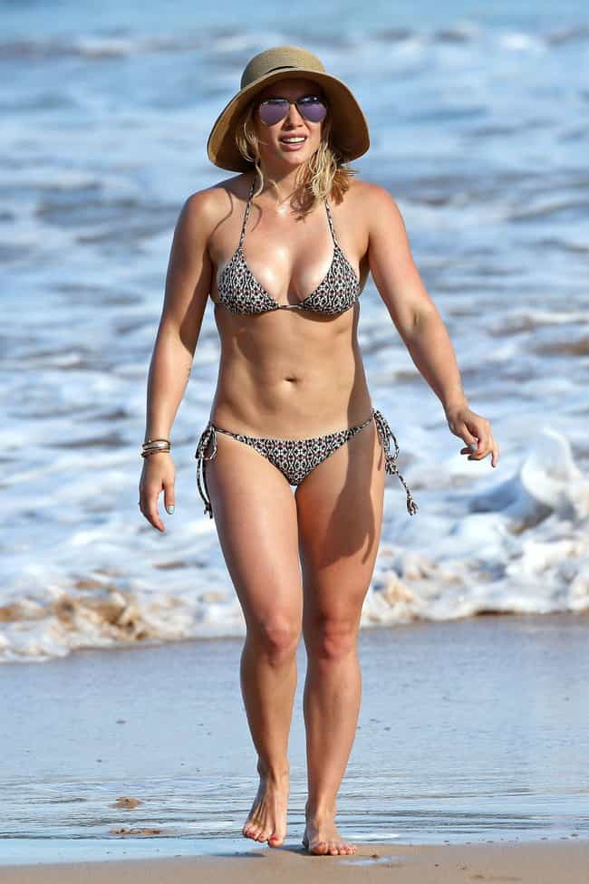 Hilary Duff in her black and g... is listed (or ranked)
