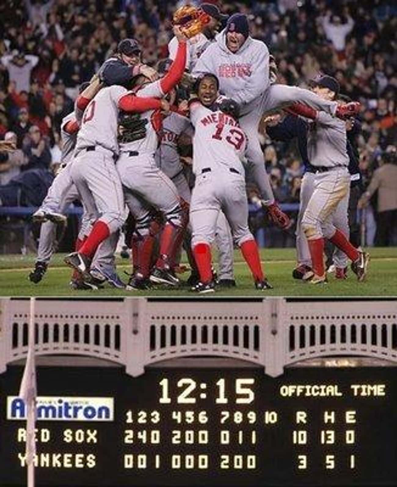 Losing the 2004 ALCS after leading the series 3-0.