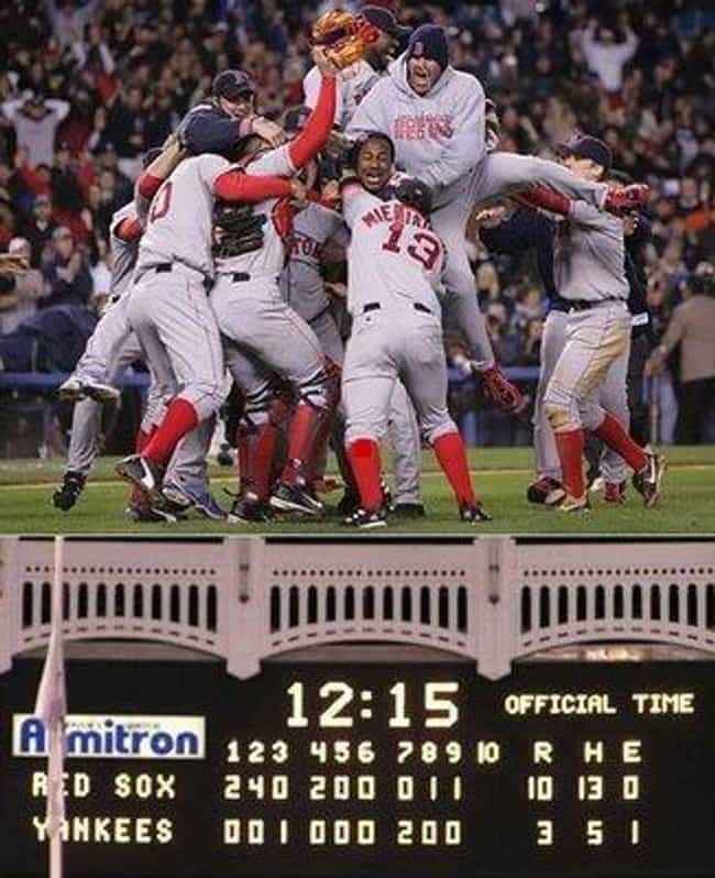 Losing the 2004 ALCS aft... is listed (or ranked) 1 on the list Embarrassing Yankees Moments That Haters Love to Bring Up