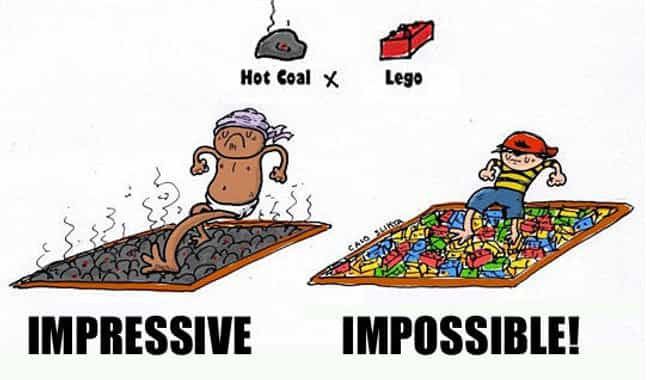 Can You Feel the Burn? is listed (or ranked) 3 on the list 22 Pictures Only People Who Love LEGOs Will Understand