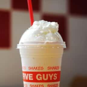 Five Guys Vanilla Milkshake is listed (or ranked) 6 on the list The Best Fast Food Milkshakes