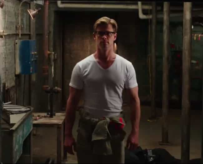 Chris Hemsworth in Glasses Is ... is listed (or ranked) 4 on the list The Lamest Moments in the New Ghostbusters Trailer