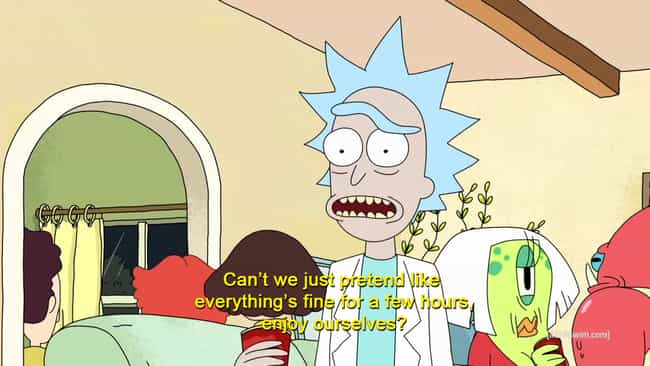 Our Usual Friday Night ... is listed (or ranked) 5 on the list Rick and Morty Memes That All Fans Will Laugh At