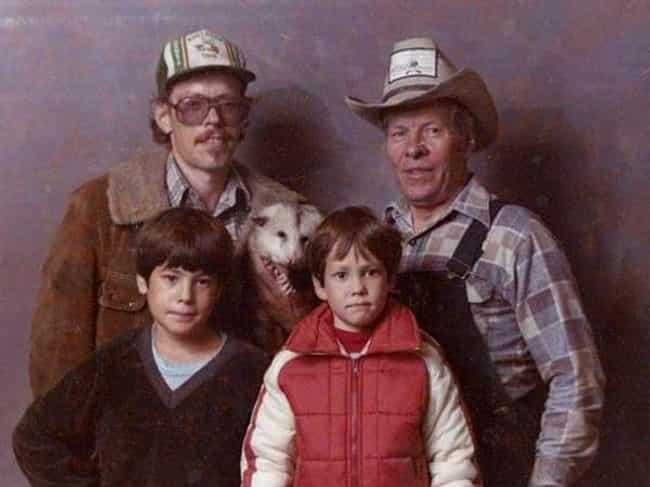 Oh the Family Photo Possum-bil... is listed (or ranked) 2 on the list Hilariously Awkward Redneck Portraits