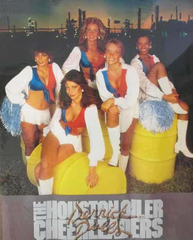 Well, Hello, Oilers Chee... is listed (or ranked) 4 on the list 26 Cheesy Vintage NFL Cheerleader Posters You Should See