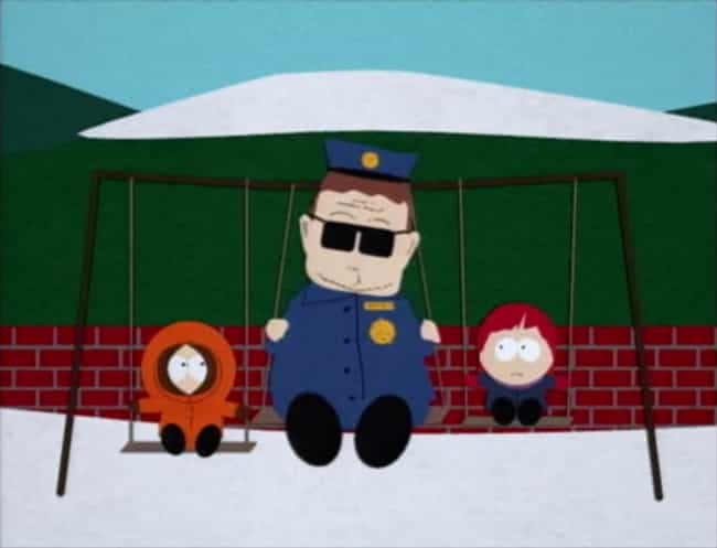 Officer Barbrady Has Never Rea... is listed (or ranked) 1 on the list Crazy Good Fan Theories About South Park