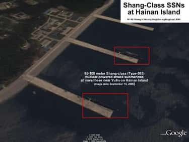Secret Submarine Bases Hold Do is listed (or ranked) 5 on the list Frightening Facts About the Chinese Military