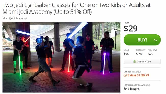 For the Force-Sensitive Geek i... is listed (or ranked) 4 on the list The Most WTF Gifts You Can Buy On Groupon