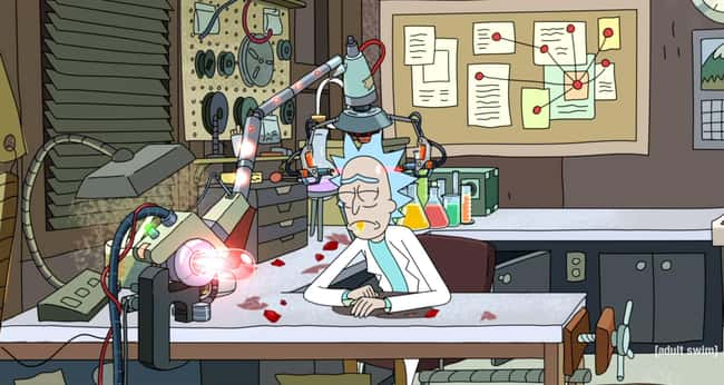 Rick Committed Suicide is listed (or ranked) 8 on the list These 15 Rick and Morty Fan Theories Will Blow Your Mind