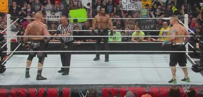 John Cena vs. Brock Lesn... is listed (or ranked) 3 on the list The Best John Cena Matches on the WWE Network