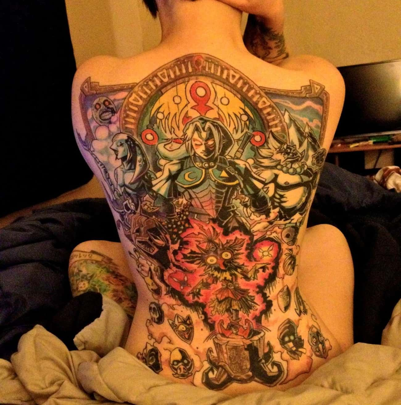 Fierce Deity Back Tat is listed (or ranked) 1 on the list Tattoos Inspired by the Legend of Zelda