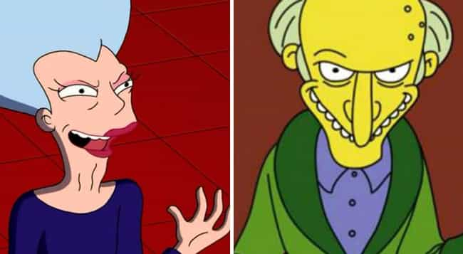 Mom from Futurama and Mr. Burns Are Related