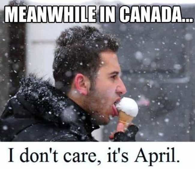 Don't Care is listed (or ranked) 2 on the list Meanwhile in Canada . . .