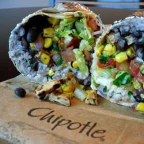 Chipotle Veg Burrito is listed (or ranked) 11 on the list The Healthiest Fast Food Choices in America