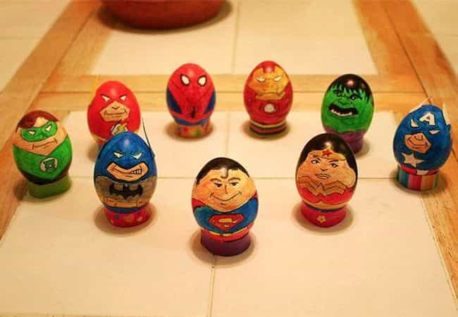 These Super Cool Superhe... is listed (or ranked) 1 on the list Cool Easter Egg Ideas You'll Wish You Thought Of