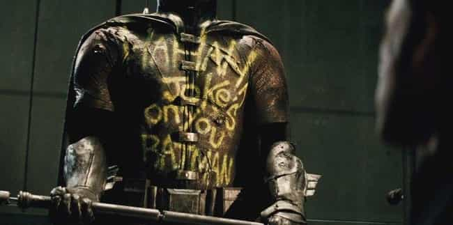Batman Keeping Robin's Suit is listed (or ranked) 3 on the list The Grimmest, Darkest Things in Batman v. Superman