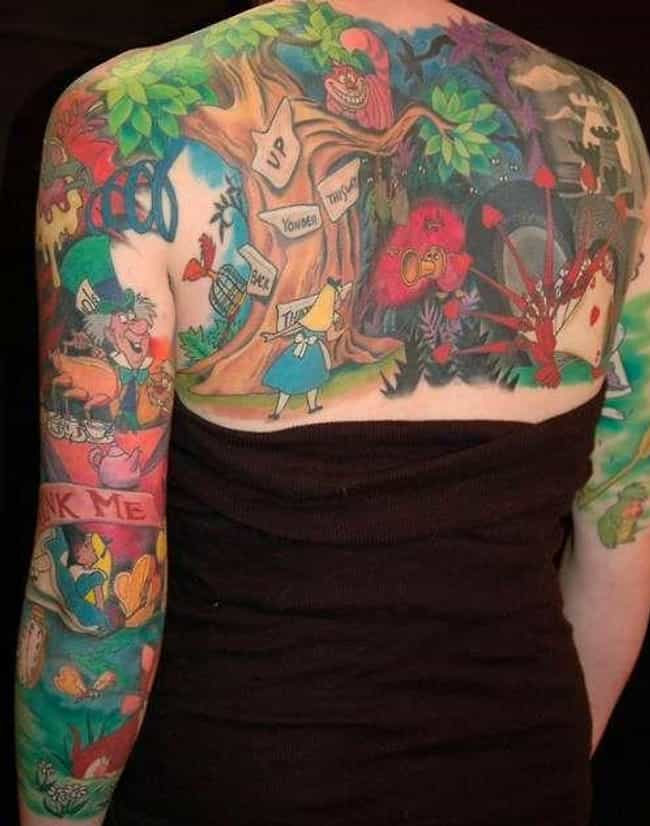 A Full Body Mural of Ali... is listed (or ranked) 3 on the list 29 Children's Book Tattoos That're Sure to Inspire Nostalgia