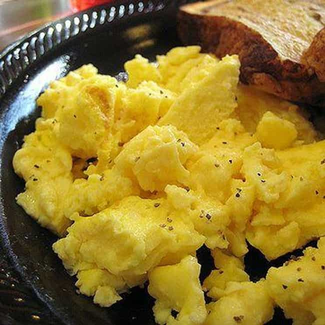 Scrambled eggs at Perkins is listed (or ranked) 2 on the list 20 Fast Food Employees Tell You Which Foods to Never Eat