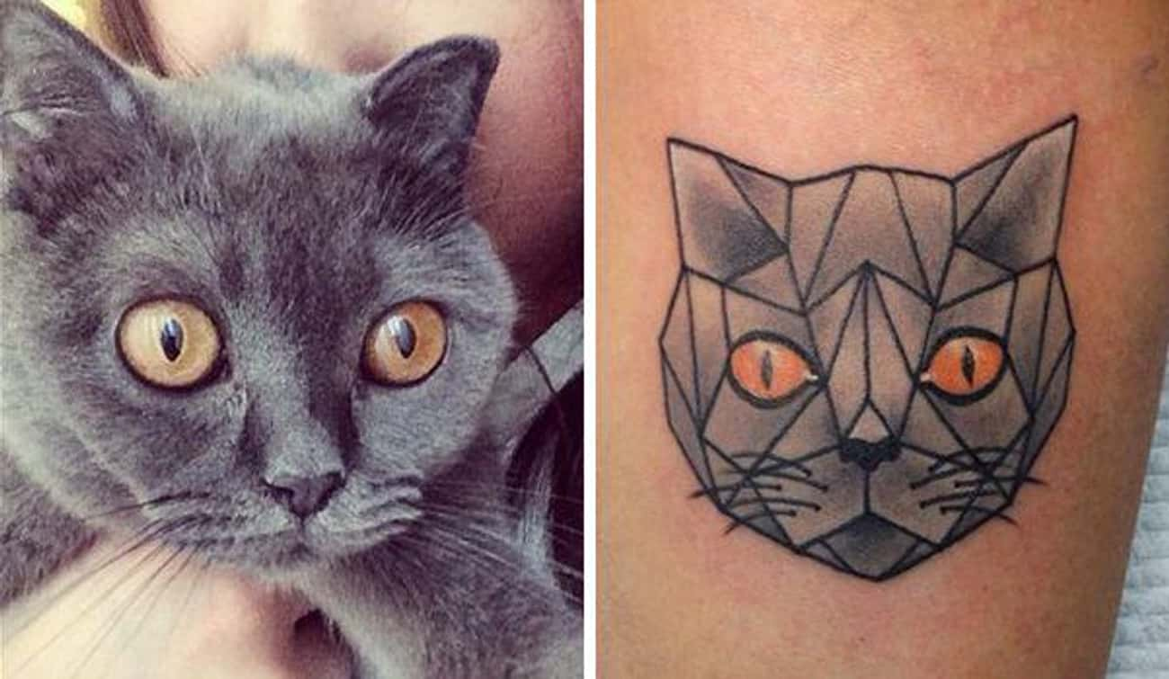 Artistic Kitty Contemplates He is listed (or ranked) 3 on the list 33 People Who Got Tattoos of Their Pet