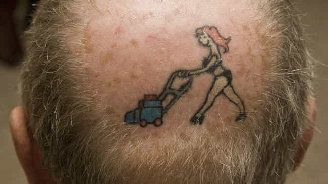 So Much Cooler Than a Toupee is listed (or ranked) 4 on the list 25 Tattoos That Make Hilarious Jokes