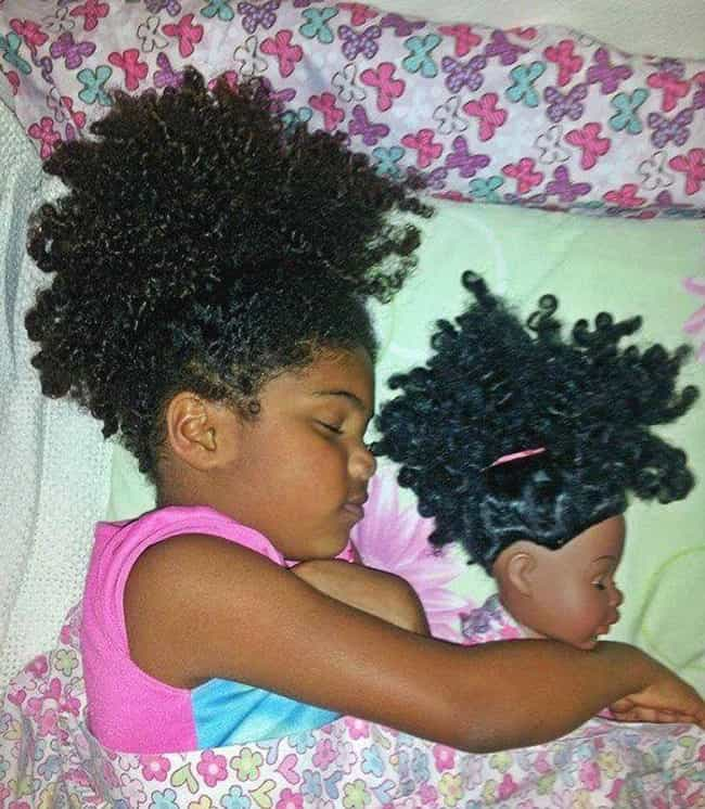 This Little Chick and Her Doll... is listed (or ranked) 2 on the list 27 Kids Who Look Just Like Their Dolls