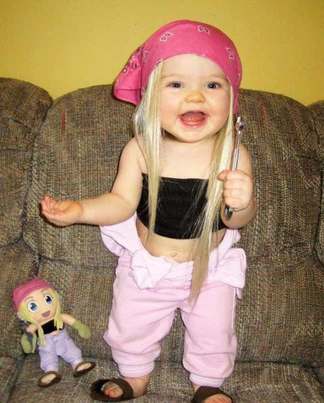 This Adorable Little Hippy Chi... is listed (or ranked) 4 on the list 27 Kids Who Look Just Like Their Dolls
