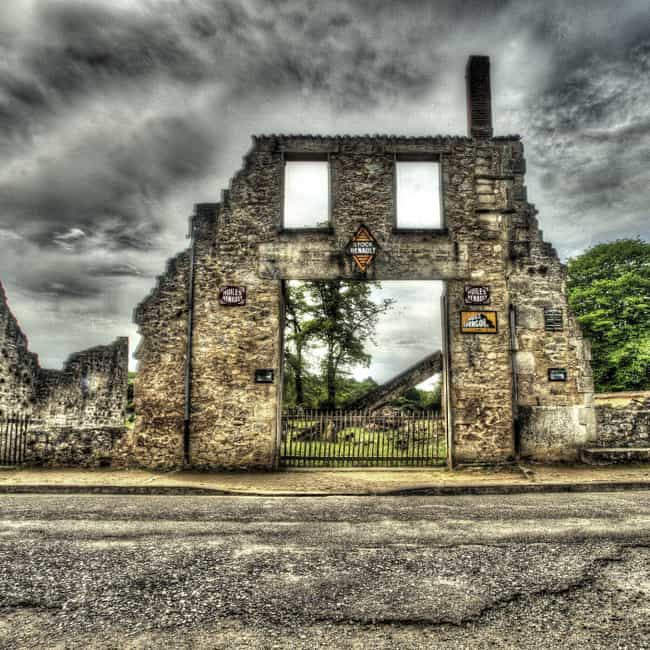 Oradour-sur-Glane, France is listed (or ranked) 4 on the list The Creepiest Abandoned Towns and Cities in the World
