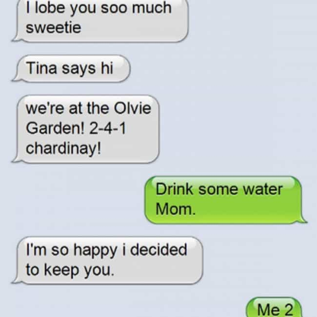 Celebrating Her Best Lif... is listed (or ranked) 2 on the list 22 Super Funny Texts from Drunk Moms