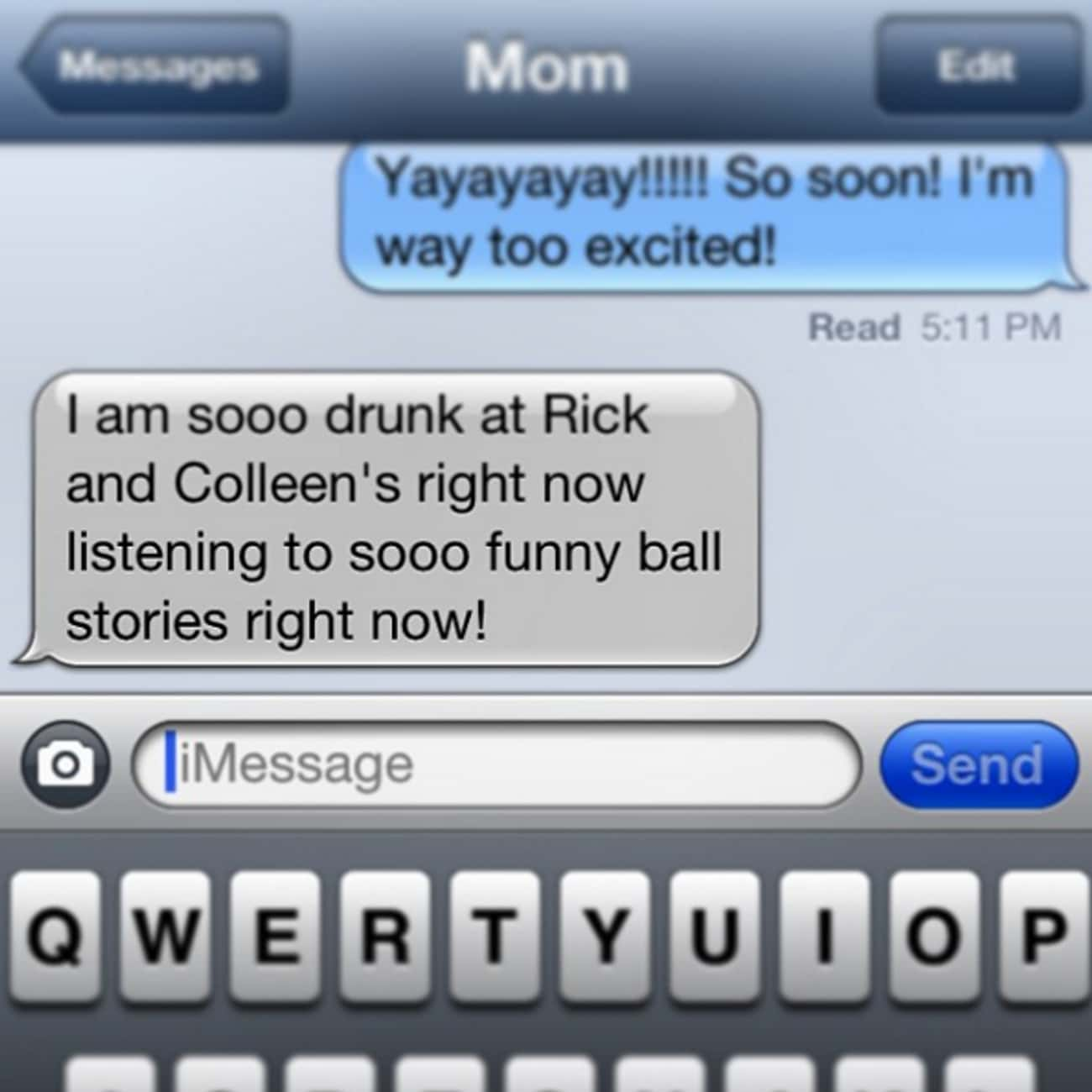 Where the Party At? Rick and C is listed (or ranked) 1 on the list 22 Super Funny Texts from Drunk Moms