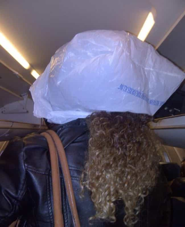 She Wasn't Sure What the... is listed (or ranked) 1 on the list Real Pics of People Being Absolutely Terrible on Planes