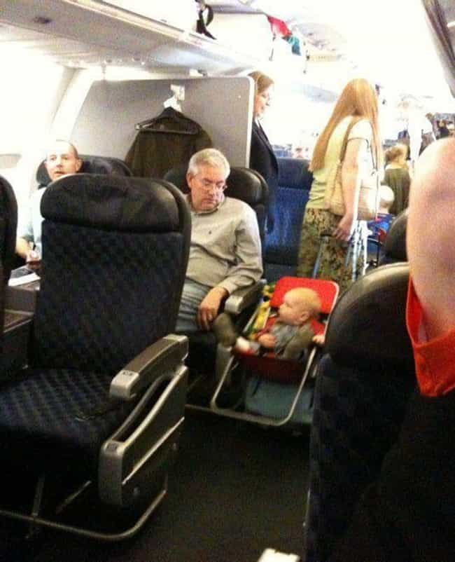Genius Parenting Hack or... is listed (or ranked) 3 on the list Real Pics of People Being Absolutely Terrible on Planes