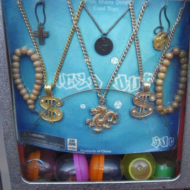 So Much Weird Jewelry is listed (or ranked) 4 on the list The Best Prizes '90s Kids Remember Getting from a Machine