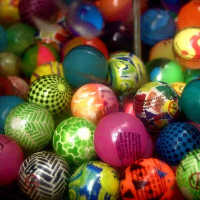 So Many Bouncy Balls is listed (or ranked) 1 on the list The Best Prizes '90s Kids Remember Getting from a Machine